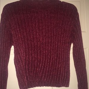 Forever 21 Sweaters - Pretty textured soft burgundy turtle neck sweater